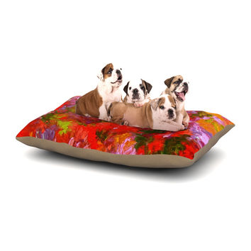 "Jeff Ferst ""Summer Garden"" Floral Painting Dog Bed"