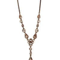Givenchy Rose Goldtone Y Necklace - Rose Gold/Silk