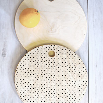 Allyson Johnson Tiny Polka Dots Cutting Board Round