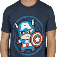 Kawaii Style Captain America Shirt
