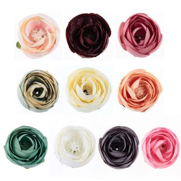 10pcs/lot New wedding decoration flower simulation girl headdress hair belt clothing accessories DIY flower