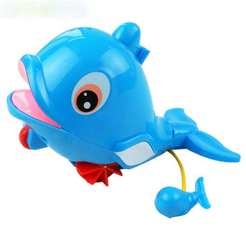 Bath toy dolphins amphibious toys plastic toys in the water and land WJ085