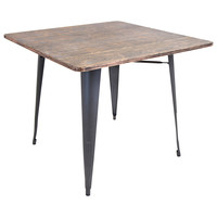 Lumisource Oregon Dining Table in gray/wood