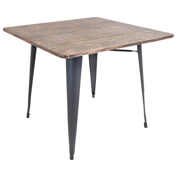 Oregon Industrial Look Dining Table Gray/Wood