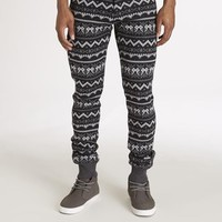 Tribal Pattern Skinny Sweat Pants