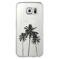 Palm Tree California Samsung Galaxy S6 Edge Clear Case S6 Case S5 Transparent Cover iPhone 6s plus Case