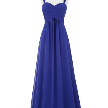 Royal Blue Bridesmaid Dress Robe Demoiselle D'honneur 2017 Cheap Long Coral Wedding Party Dress Under 50 Bruidsmeisjes Jurk