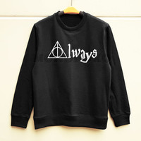 S M L -- Deathly Hallows Shirt Always Shirt Harry Potter Sweatshirt Jumpers Long Sleeve Shirts Sweater Unisex Shirts Women Shirts Men Shirts