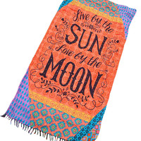 Sun And Moon Beach Towel Maverlly