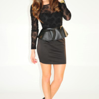 Cut Out That Sass Dress: Black | Hope's
