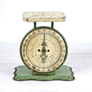 Vintage Scale, Scale, Kitchen Scale, Green Scale