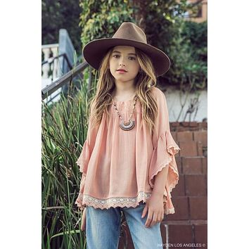 Hayden 2018 Apricot Off The Shoulder Tunic Soft Adorable Top