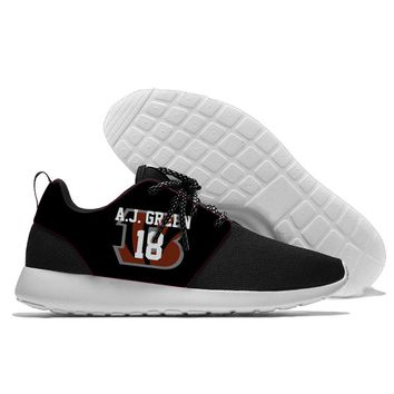 2018 Men and women Sport Shoes Bengals players style Jogging Walking Athletic Shoes light weight from Cincinnati running shoes