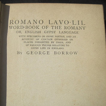 1905 First Edition Romano Lavo Lil by George Burrow Hardcover