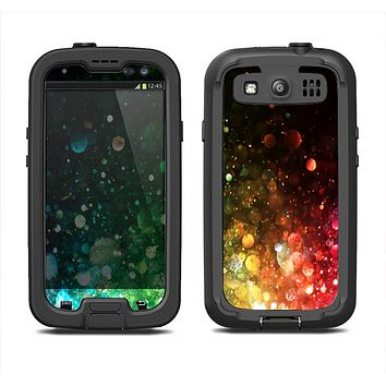 The Neon Glowing Grunge Drops Samsung Galaxy S3 LifeProof Fre Case Skin Set