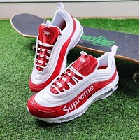 Nike Air Max 97 x Supreme Red White Sport Running Shoes