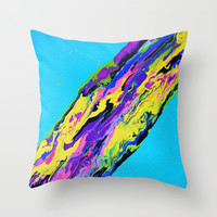 Go With the Flow Throw Pillow by Erin Jordan