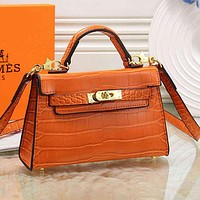 Hermès Women Fashion Leather Crossbody Tote Satchel Shoulder Bag