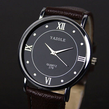 Business fashion leisure contracted clasp table pointer quartz Men Women Watch = 1956714628