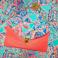 Lilly Pulitzer Shell Me About It Envelope Clutch