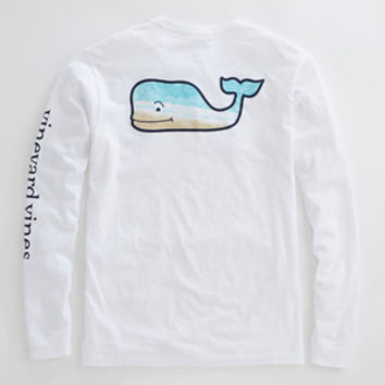 "Vineyard Vines Long Sleeve ""Whale Beach"" Tee"