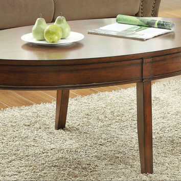 He-3458-30 Parrish Collection Oval Cocktail Table