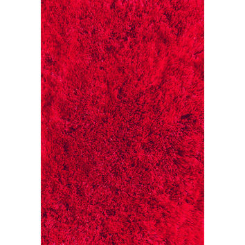 LA Rugs Soft Shaggy Collection Red Area Rug