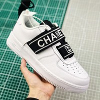 Nike Air Force 1 Utility Qs White With Double C Logo Sneakers - Best Online Sale