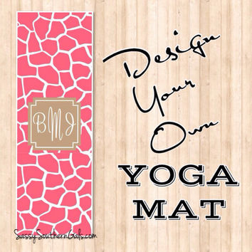 Monogrammed Yoga Mat, Personalized Yoga Mat, Design Your Own Yoga Mat, Custom Yoga Mat, Monogrammed Gift