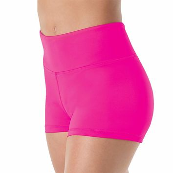 Women High Waisted Lycra Spandex Dance Shorts Girls Workout Dancing Shorts for Stage Performance Shorts