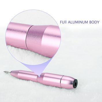 Nail Drill, Belle Portable Pen Shaped Electric Acrylic Nail Art Drill 6 Bits Tool Set Professional Manicure Pedicure Nail File Kit Handpiece Grinder with Nail Clippers Set