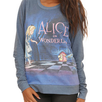 Disney Alice In Wonderland Title Girls Pullover Top