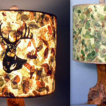 Whitetail Buck Lamp Shade, Deer Camouflaged Until Switched On, Woodland Decor