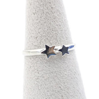 925 sterling silver Tiny little Stars Ring
