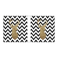 Glitter deer chevron binder