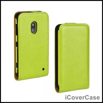 Case for Nokia Lumia 620 Cover Flip Crazy Horse PU Leather Capa Fundas Coque Shell Etui Carcasas Hoesjes Mobile Phone Accessory