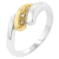 Two-tone Swirl Ring, size : 10