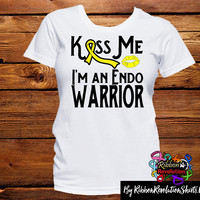 Kiss Me I am an Endo Warrior Shirts (Available in White or Yellow Shirts)