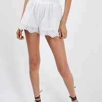 Embroidered Flippy Shorts - Vacation Shop - Clothing