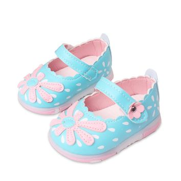 Baby Girls leather shoes Princess Flowers Toddlers Kids casual Shoe Summer Cute Toddler Baby Girl Shoes Kids Toddler Sandals