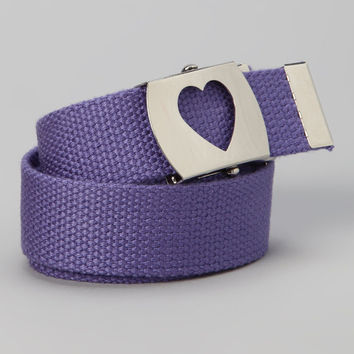 Girls heart belt  Purple or any color  Perfect for School