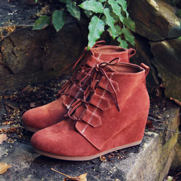 Copper Wolf Booties