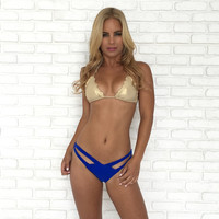 Netline Knot Bikini Bottoms in Royal Blue