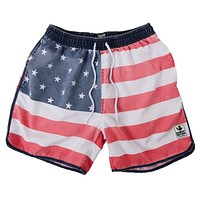 Faded American Flag Swim Trunks by Rowdy Gentleman - FINAL SALE