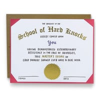 School of Hard Knocks Card
