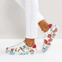 New Look Floral Printed Trainer at asos.com