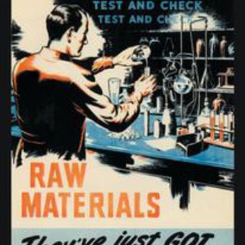 Raw Materials - Test and Check: Fine art canvas print (12 x 18)