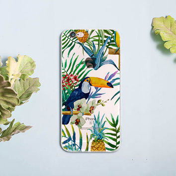 WaterColor Tropical Toucan iphone case