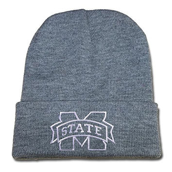 JIAQ Mississippi State Bulldogs Beanie Embroidery Skullies Knitted Hats Caps