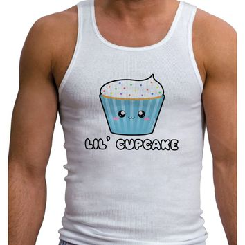 Cute Cupcake with Sprinkles - Lil Cupcake Mens Ribbed Tank Top by TooLoud